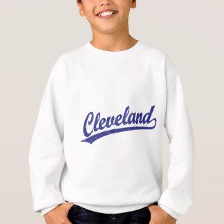 Cleveland-Skriptlogo im Blau Sweatshirt