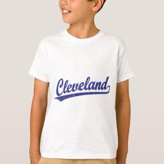 Cleveland-Skriptlogo im Blau T-Shirt