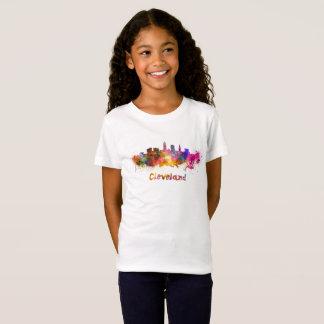 Cleveland skyline im Watercolor T-Shirt