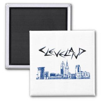 Cleveland-Skyline Kühlschrankmagnet