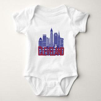 Cleveland-Stadt-Farben Baby Strampler