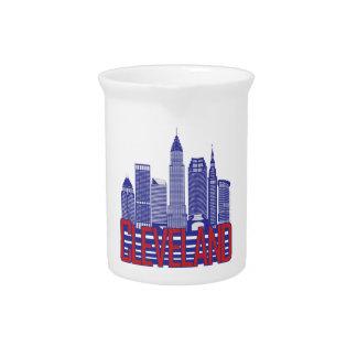 Cleveland-Stadt-Farben Krug
