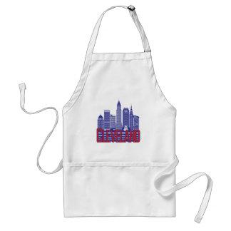 Cleveland-Stadt-Farben Schürze