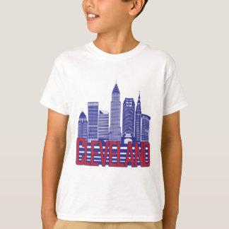 Cleveland-Stadt-Farben T-Shirt