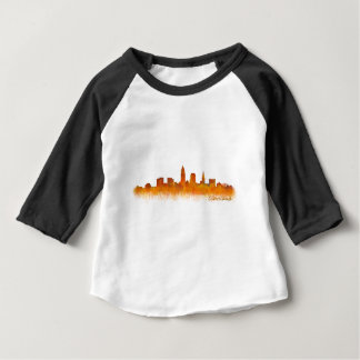 cleveland watercolor City US skyline Baby T-shirt