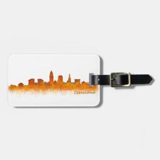 cleveland watercolor City US skyline Kofferanhänger