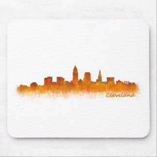 cleveland watercolor City US skyline Mousepad