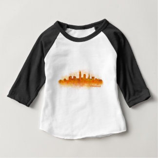 cleveland watercolor City US skyline v3 Baby T-shirt