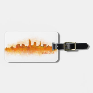 cleveland watercolor City US skyline v3 Kofferanhänger