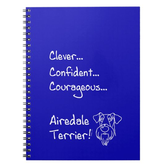 Clever Airedale Terrier Notizblock
