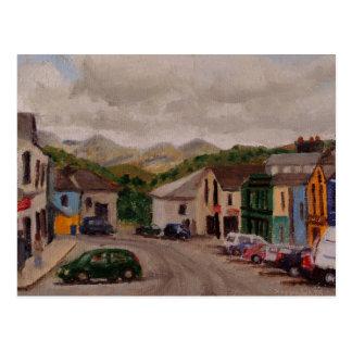 Clifden Irland Stadtbild-impressionistische Postkarte