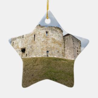 Cliffords Turm in historischem Gebäude Yorks Keramik Ornament