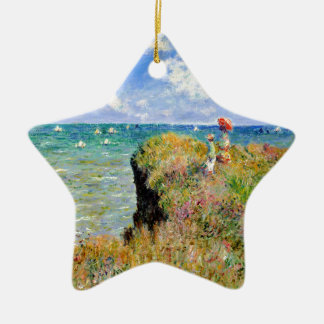 Clifftop Weg bei Pourville - Claude Monet Keramik Ornament
