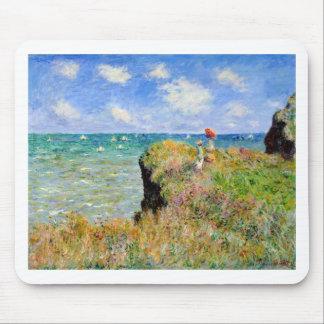 Clifftop Weg bei Pourville - Claude Monet Mousepads