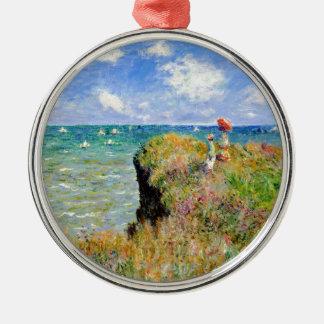 Clifftop Weg bei Pourville - Claude Monet Silbernes Ornament