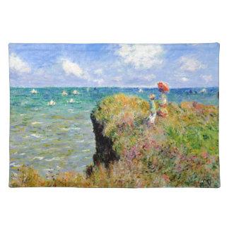 Clifftop Weg bei Pourville - Claude Monet Stofftischset