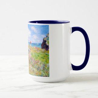 Clifftop Weg bei Pourville Claude Monet Tasse