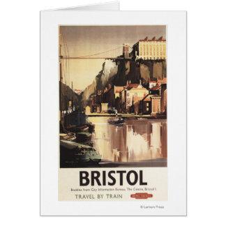 Clifton Hängebrücke und Boote Karte