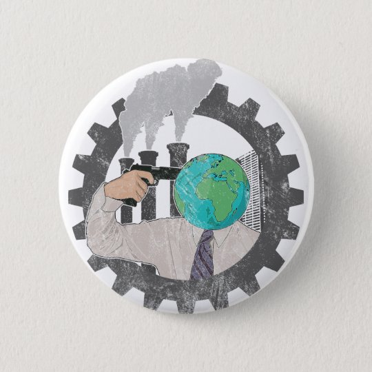 Climate Change Runder Button 5,7 Cm