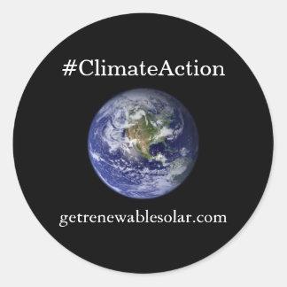 #ClimateAction runder Aufkleber