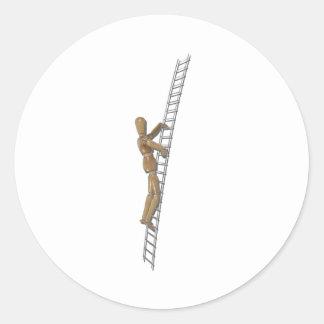 ClimbingMetalLadder020511 Runde Aufkleber
