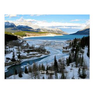 Cline Fluss, Alberta, Kanada Postkarte