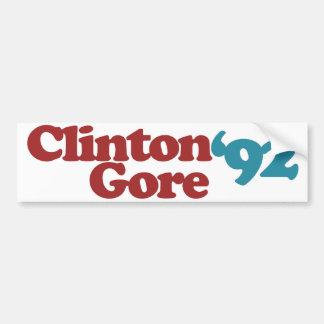 Clinton Gore 1992 Autoaufkleber