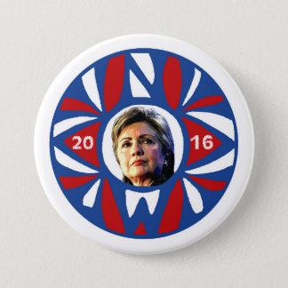 Clinton-In-Leiter Runder Button 7,6 Cm