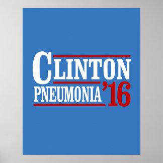 Clinton-Pneumonie 2016 -- Wahl 2016 -- Poster