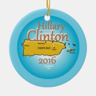 Clinton Puerto Rico 2016 Keramik Ornament