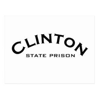 Clinton-Staats-Gefängnis-Logo-Postkarten Postkarte