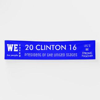 Clinton-Stimmenmehrheit-Präsident 2016 der USA Banner