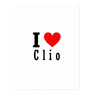 Clio, Alabama-Stadt-Entwurf Postkarte