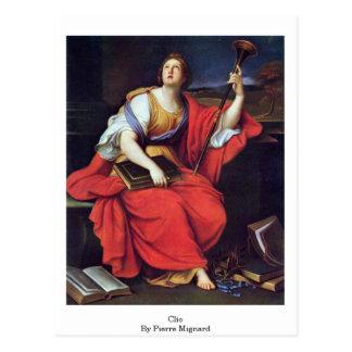 Clio durch Pierre Mignard Postkarte