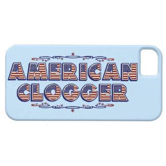 Clogger Flaggen-Tanzen, das amerikanisches Blau Barely There iPhone 5 Hülle