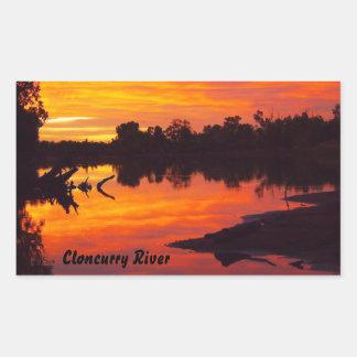 Cloncurry Fluss sunsise rechteckiger Aufkleber