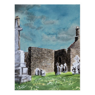Clonmacnoise Irland impressionistisches Postkarte