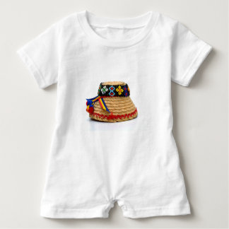 clop traditionellen Hut Baby Strampler