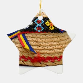 clop traditionellen Hut Keramik Ornament