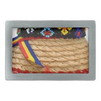clop traditionellen Hut Rechteckige Gürtelschnallen