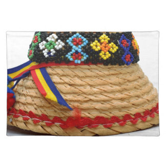 clop traditionellen Hut Stofftischset