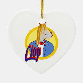 Clops Weihnachtsherz. Liebe für jeder Keramik Ornament