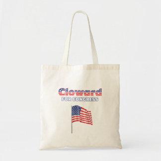 Cloward für Kongress-patriotische amerikanische Fl Budget Stoffbeutel