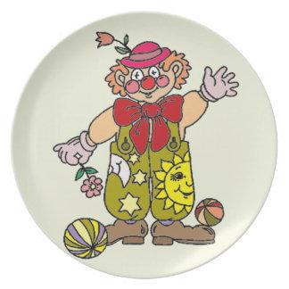 Clown 1 melaminteller