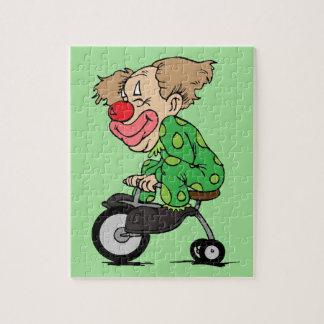 Clown auf Dreirad Puzzle