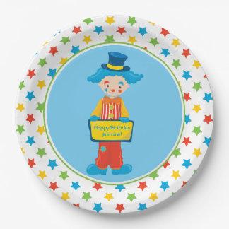 Clown des Zirkus-Thema-| | personalisiert Pappteller