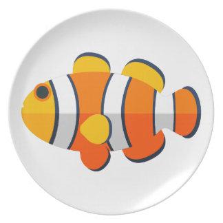 Clown-Fisch-Primitiv-Art Melaminteller