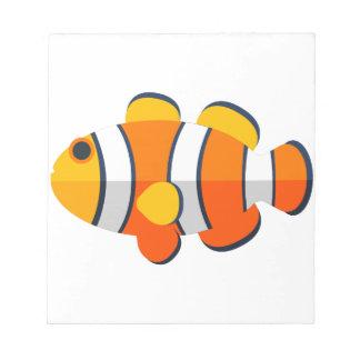Clown-Fisch-Primitiv-Art Notizblock