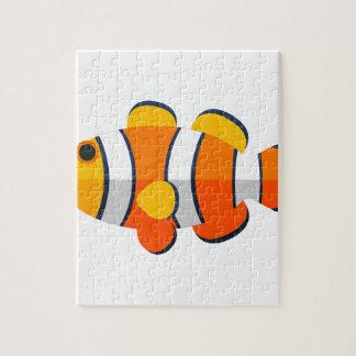 Clown-Fisch-Primitiv-Art Puzzle