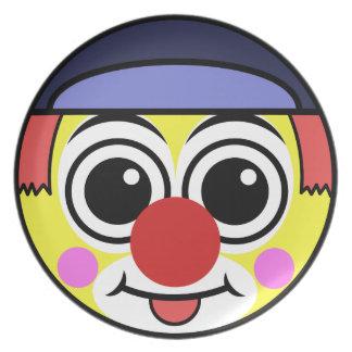 Clown-Gesicht Melaminteller